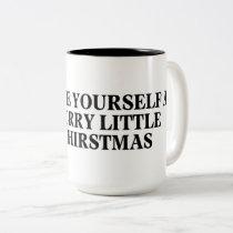 Holiday coffee mug. Two-Tone coffee mug