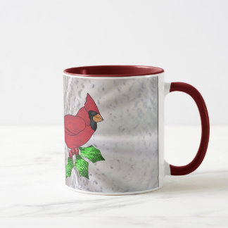 Holiday Collection in Stained Glass - Cardinal Mug