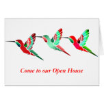 Holiday Colored Hummingbirds Cards