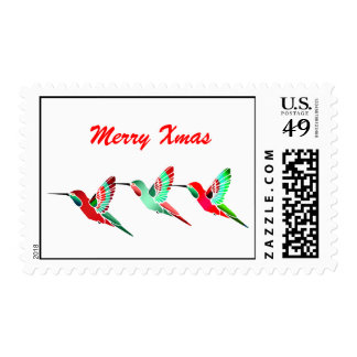 Holiday Colored Hummingbirds Stamps