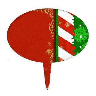 Holiday Colors Cake Topper
