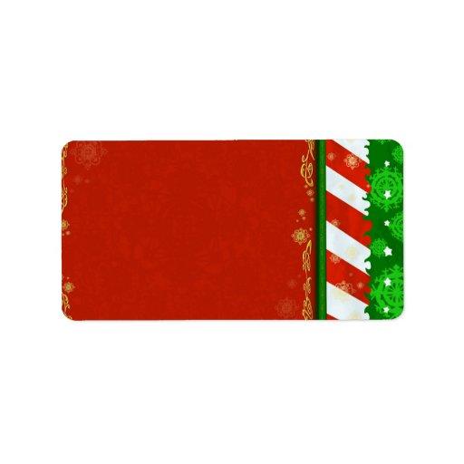 Holiday Colors Custom Address Label