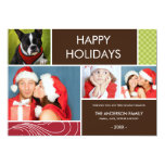 HOLIDAY COLORS   HOLIDAY PHOTO CARD PERSONALIZED INVITE
