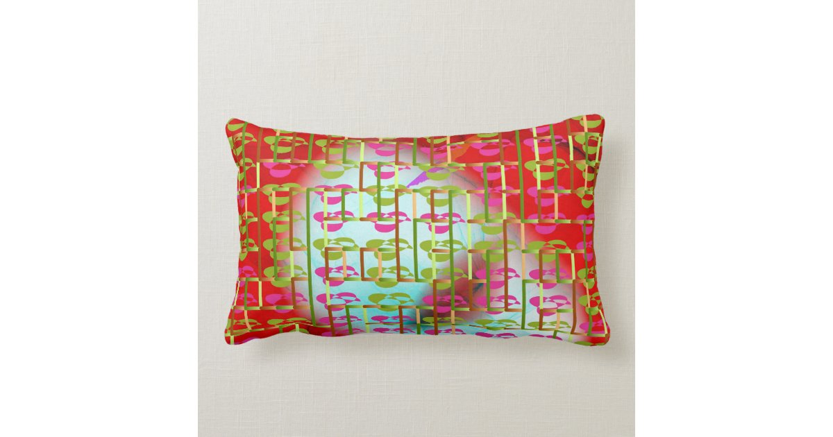 Throw Pillows Primary Colors : Holiday Colors Lumbar Throw PIllow Zazzle