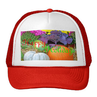 Holiday Colors Merry Christmas Design Trucker Hat