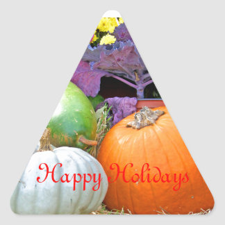 Holiday Colors Merry Christmas Holiday Design Triangle Sticker