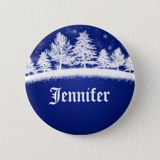 Holiday Company Party Name Tags Christmas Xmas Pinback Button