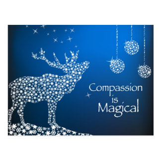 Holiday Compassion is Magical Postcard