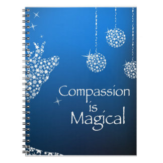 Holiday Compassion is Magical Spiral Notebook