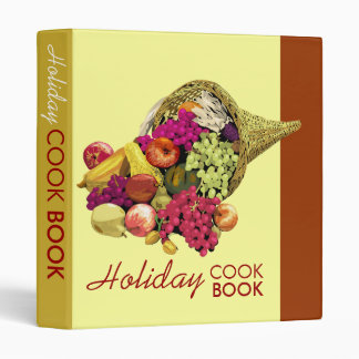Holiday cook book binder