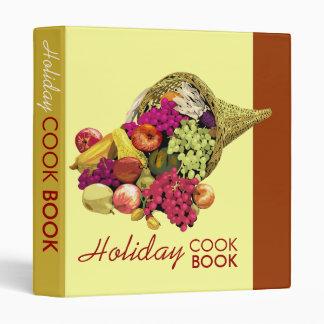 Holiday cook book binder