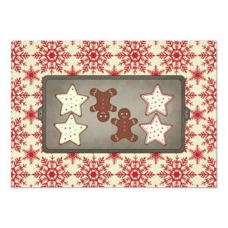 Holiday Cookie Baking Party Invitations