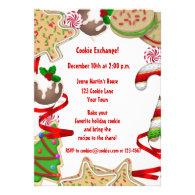 Holiday Cookie Border Exchange Invitation