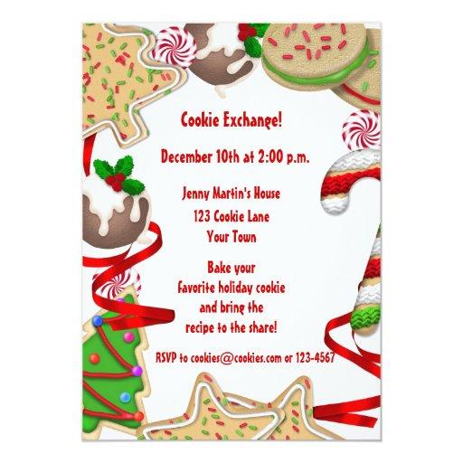 Holiday Cookie Border Exchange Invitation | Zazzle