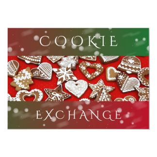 Holiday Cookie Exchange | Christmas Party Card