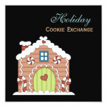 """Holiday Cookie Exchange Invitation 5.25"""" Square Invitation Card"""