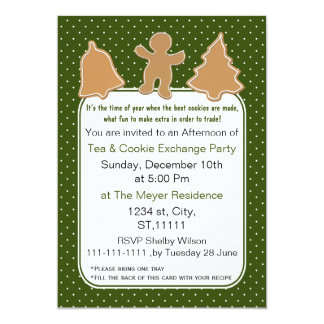 Holiday Cookie Exchange Invite with recipe card