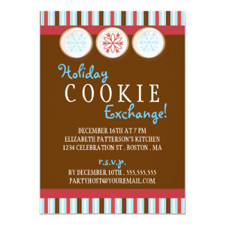 Holiday Cookie Exchange Sugar Cookie Invitation