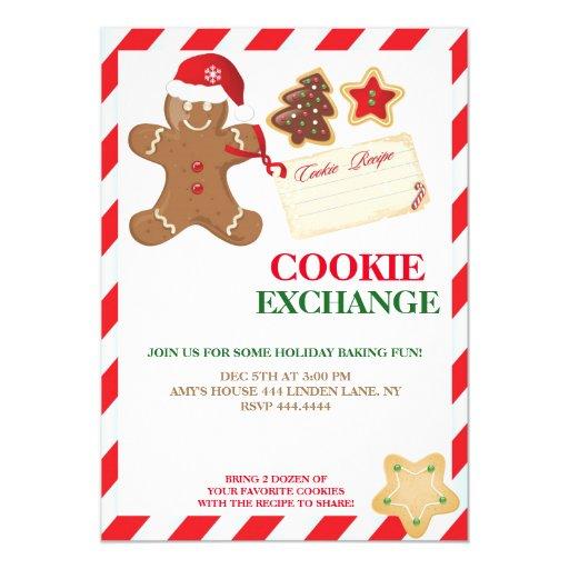 Cookie Swap Invitations as adorable invitation design