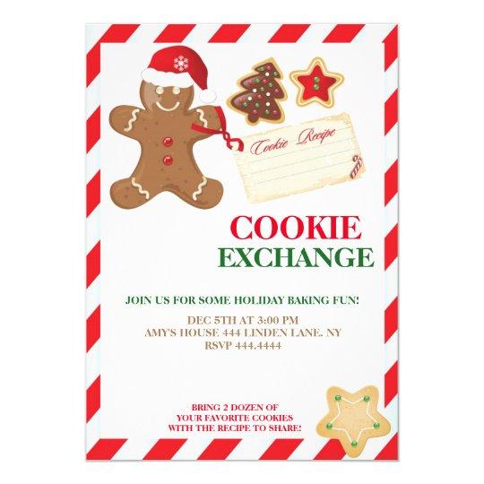 Holiday Cookie Exchange Swap Invitations Zazzle Com