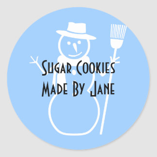 Holiday Cookie Label Classic Round Sticker