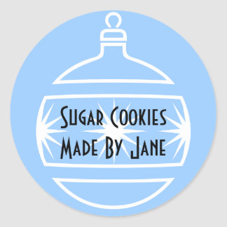 Holiday Cookie Lable Classic Round Sticker
