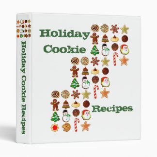 Holiday Cookie Recipes 3 Ring Binder