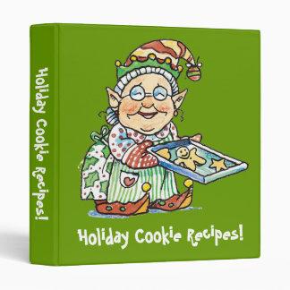Holiday Cookie Recipes Binder! 3 Ring Binder