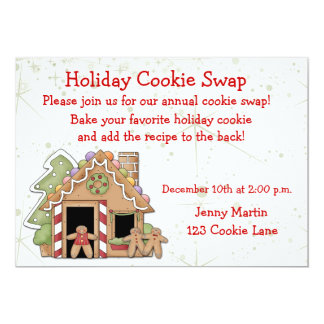 Holiday Cookie Swap Invitation