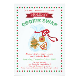 Holiday Cookie Swap Invitation