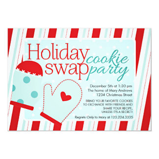 Holiday Cookie Swap Party Custom Announcement