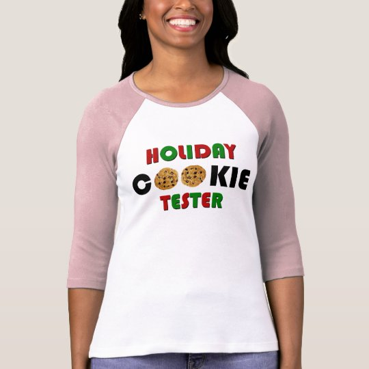 Holiday Cookie Tester Shirt w/name on back
