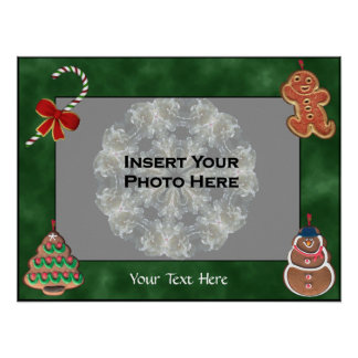 Holiday Cookies Candy Cane Photo Template Poster