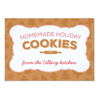 Holiday Cookies Christmas Recipe or Note Card