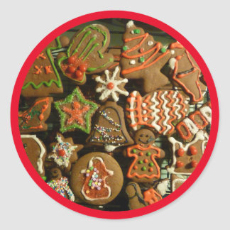Holiday Cookies Classic Round Sticker