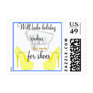 Holiday Cookies for Fashionistas Postage Stamp