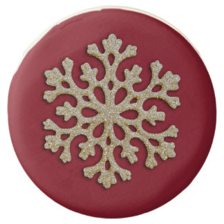 Holiday Cookies Glittery Snowflake  Any Color