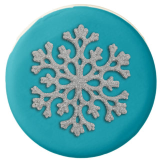 Holiday Cookies Silver Glitter Snowflake Any Color