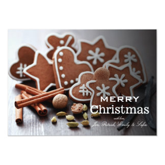 Holiday cookies with spices card