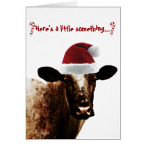 Holiday Cow Card