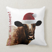 Holiday Cow Pillow
