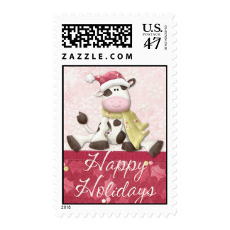 Holiday Cow Postage