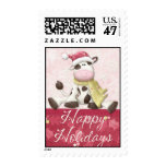 Holiday Cow Stamp
