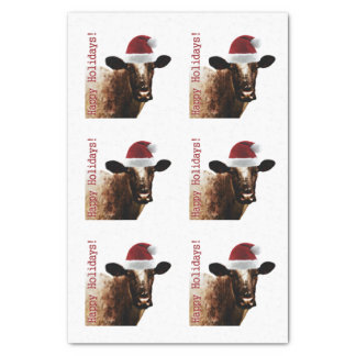 "Holiday Cow Tissue Paper 10"" X 15"" Tissue Paper"