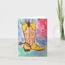 Holiday Cowboy Boot Card