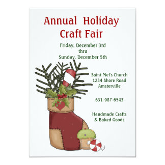 Holiday Craft Invitation