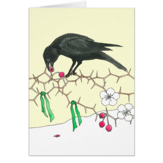 Holiday Crow Notecard Cards