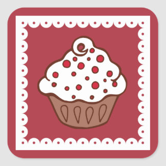 Holiday Cupcake Stickers