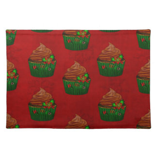 Holiday Cupcake Whimsey DINING DECOR BAKING Cloth Placemat