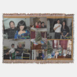 HOLIDAY CUSTOM PHOTO THROW BLANKET